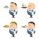 Waiters with Trays Set - GraphicRiver Item for Sale