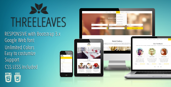 Threeleaves – Responsive Hotel Template