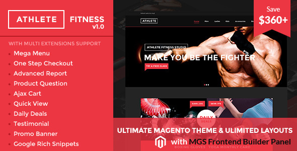 Athlete | Fitness – Multipurpose Magento theme
