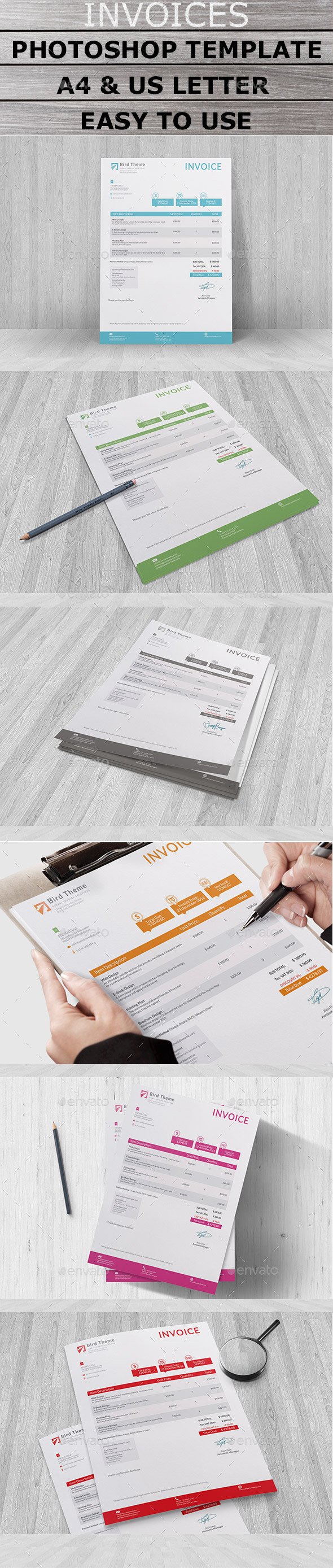 Bird Invoice - Proposals & Invoices Stationery