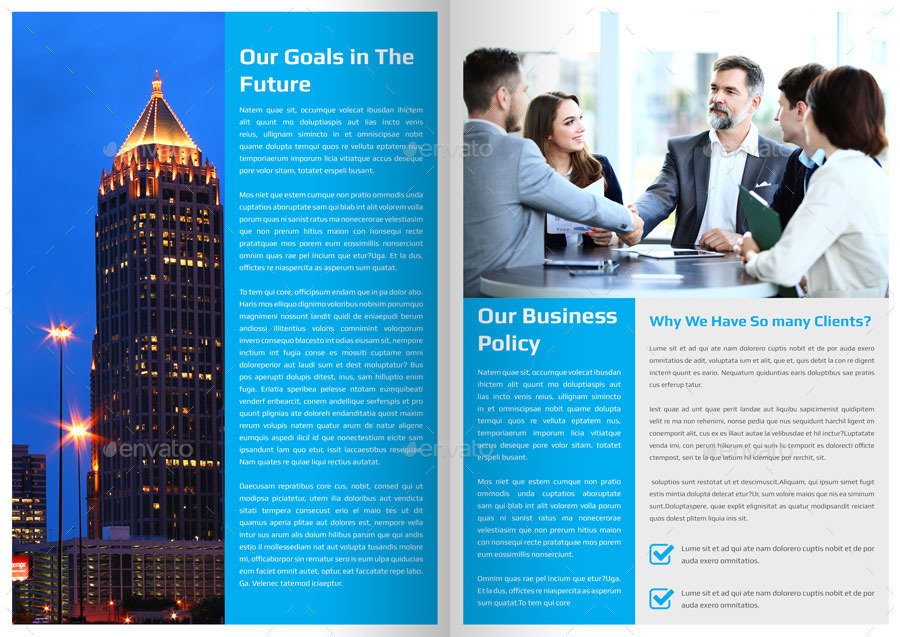 Corporate Newsletter Template - 4 Pages By Addaxx | Graphicriver