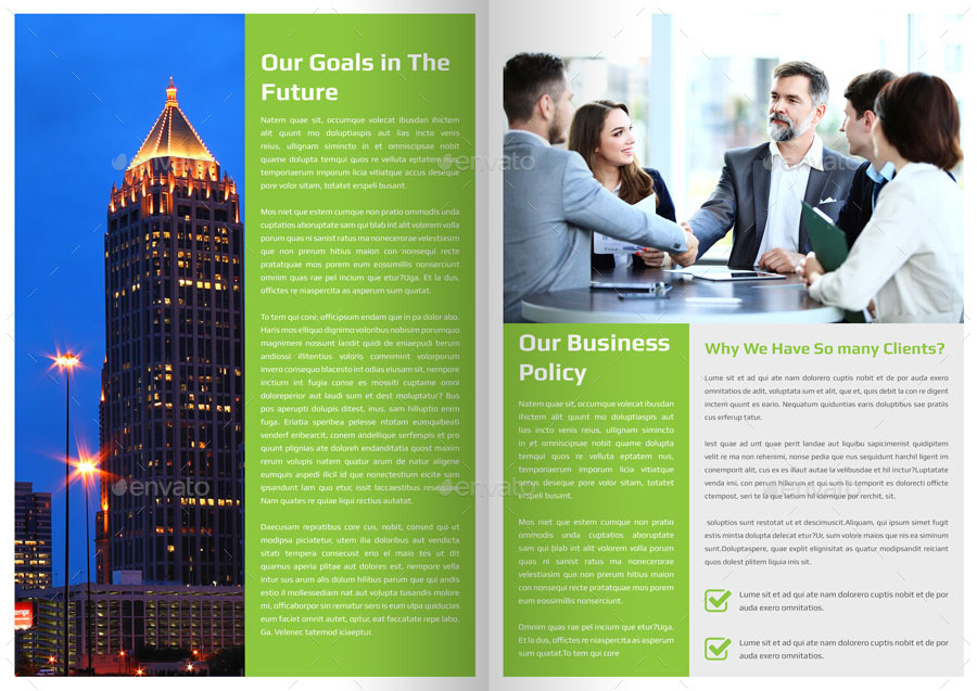 Corporate Newsletter Template - 4 Pages By Addaxx   Graphicriver