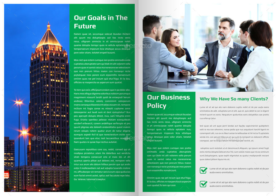 Corporate Newsletter Template 4 Pages by Addaxx – Corporate Newsletter Template