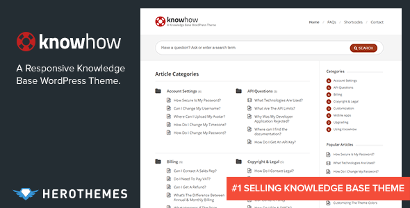 KnowHow – A Knowledge Base WordPress Theme