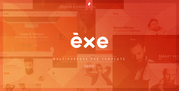 Exe – Multipurpose PSD Template