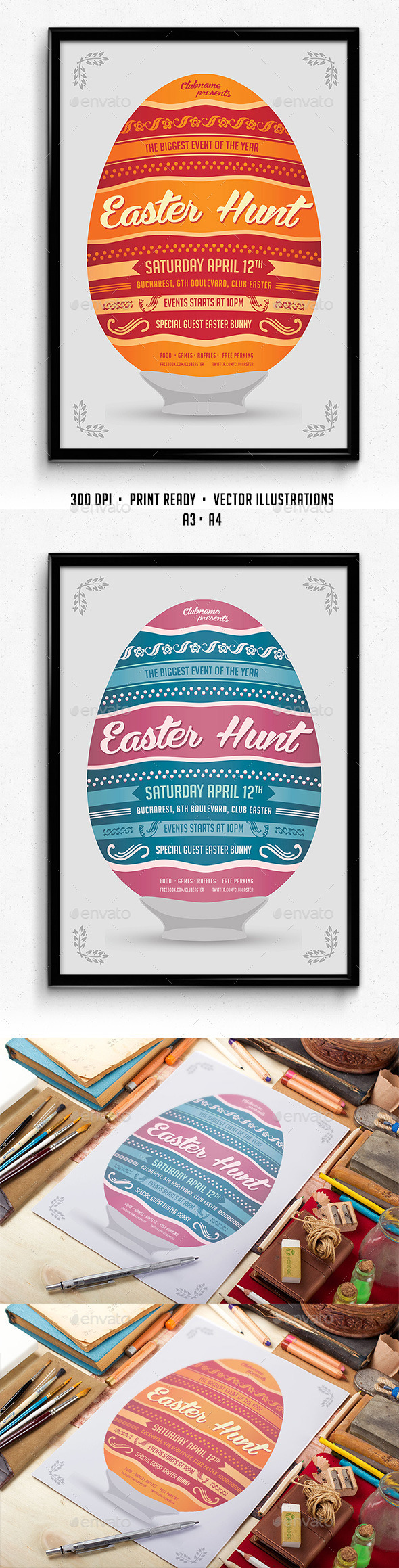 Easter Hunt Poster - Events Flyers