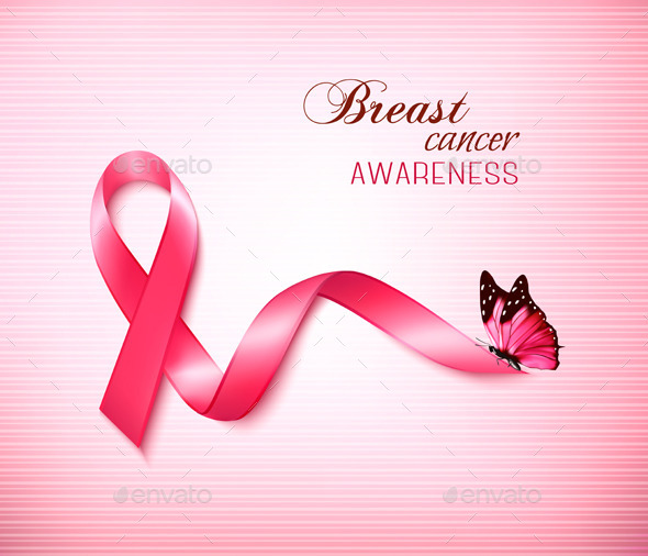 background with pink breast cancer ribbonalmoond | graphicriver, Powerpoint templates