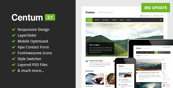 Centum – Responsive HTML Template
