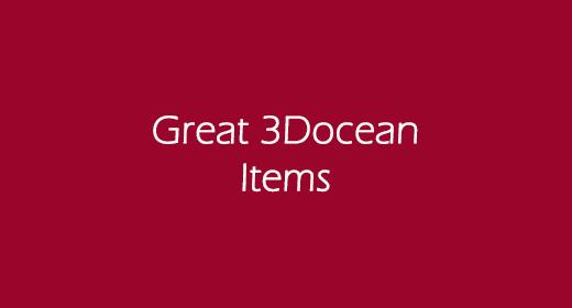 Great 3DOcean Items