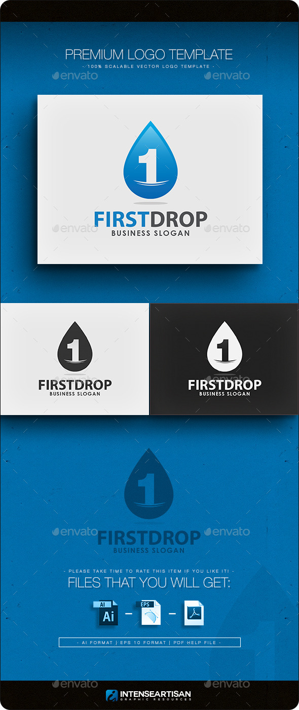 First Drop Logo Template