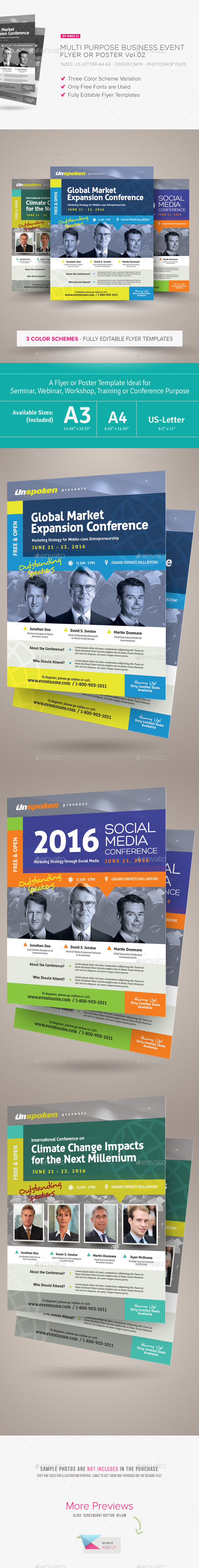 Multi Purpose Business Event Flyer or Poster v.02 - Corporate Flyers