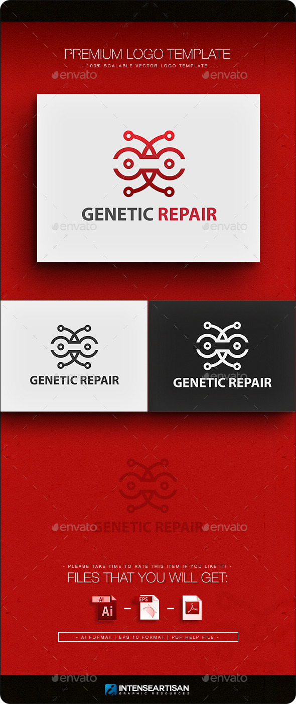 Genetic Repair - Objects Logo Templates