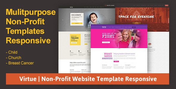 Virtue | Non-Profit Website Template Responsive