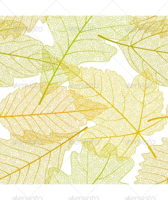 Seamless autumn leaves pattern - Patterns Decorative