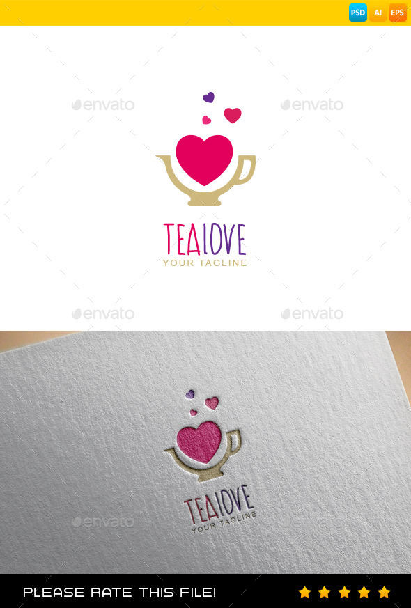 Tea Logo - Vector Abstract