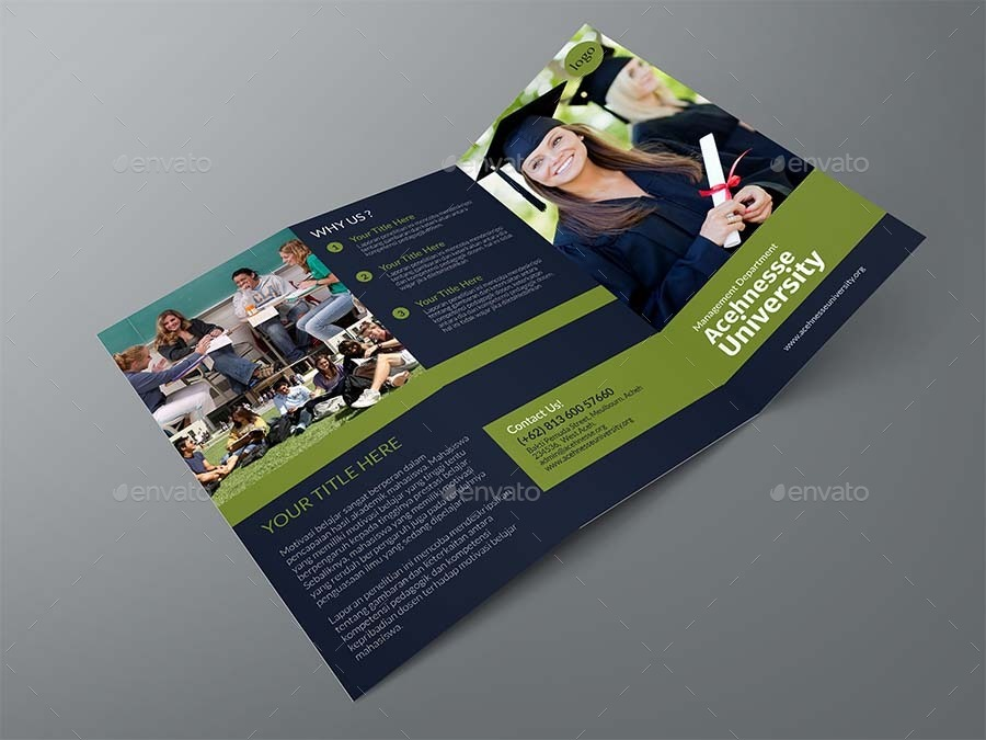 College TriFold Brochure By Adekur  Graphicriver