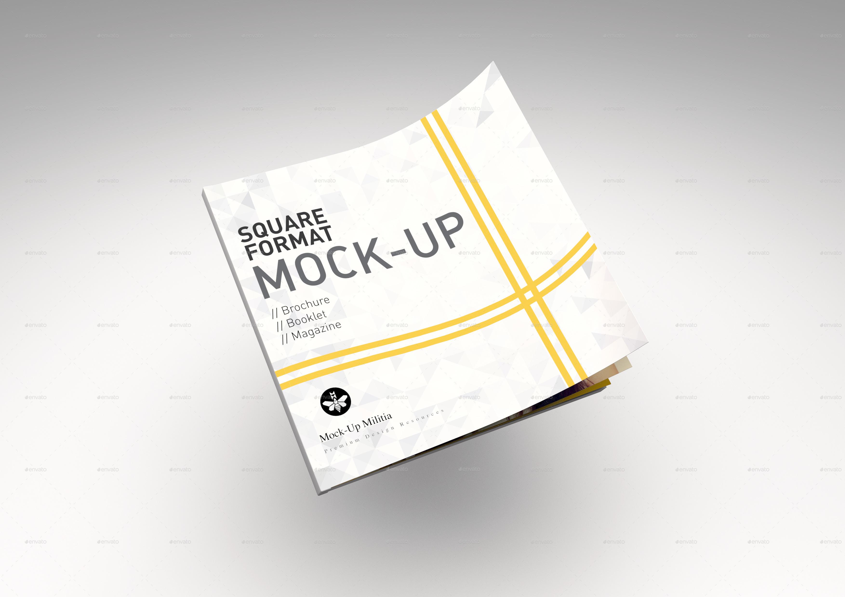 Square | Magazine | Brochure | Booklet | Mock-Up by Mock