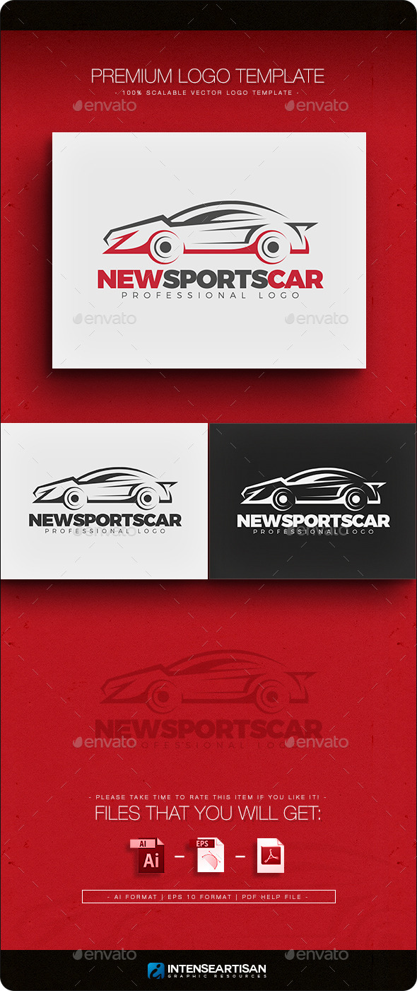 New Sports Car Logo Template