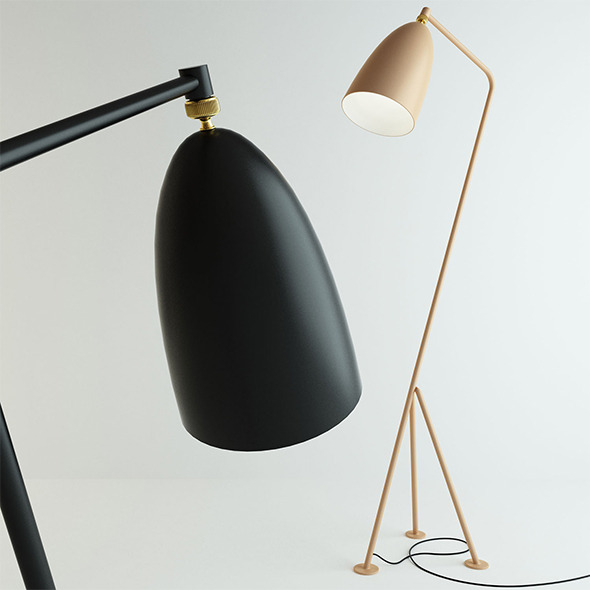 Grasshopper Lamp by Gubi - 3DOcean Item for Sale