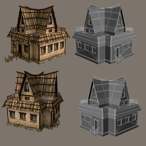 Low Poly Tavern - 3DOcean Item for Sale