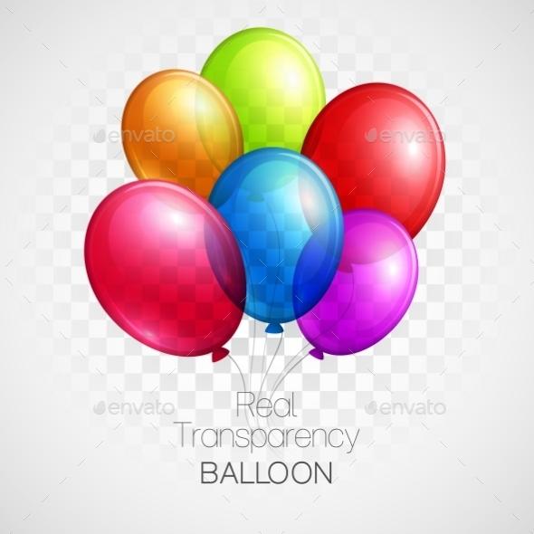 Balloon Background  - Birthdays Seasons/Holidays