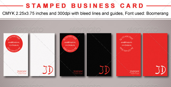 Stamped Business Card - Creative Business Cards