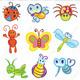 Funny Little Beetles