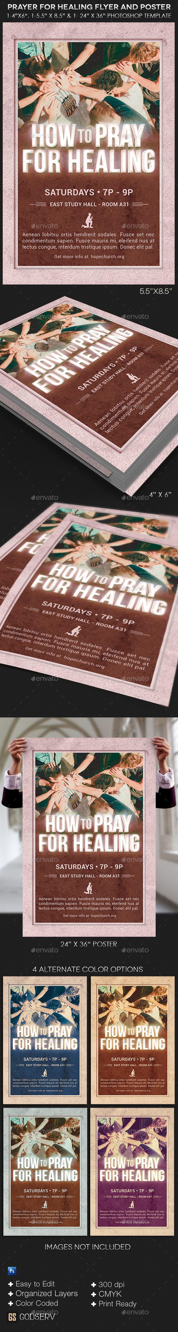 Healing Flyer Poster Template - Church Flyers