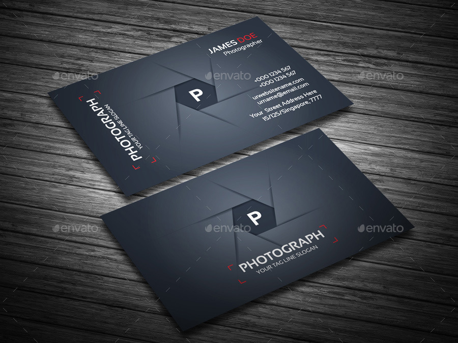 Photograph Corporate Business Cards by generousart | GraphicRiver
