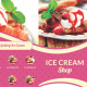 Trifold Ice Cream Menu Template - GraphicRiver Item for Sale