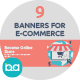 Flat Concept Banners for E-Commerce - GraphicRiver Item for Sale