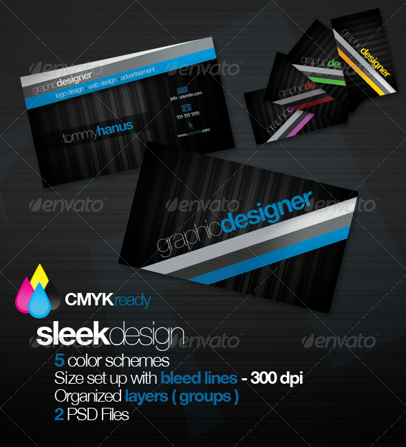 Sleek Design Business Card - Creative Business Cards