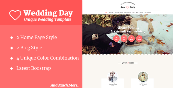 Wedding Day - Wedding HTML Template - Wedding Site Templates