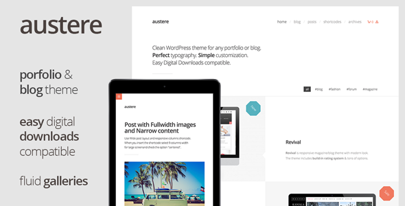 Austere – Digital Products Shop & Blog