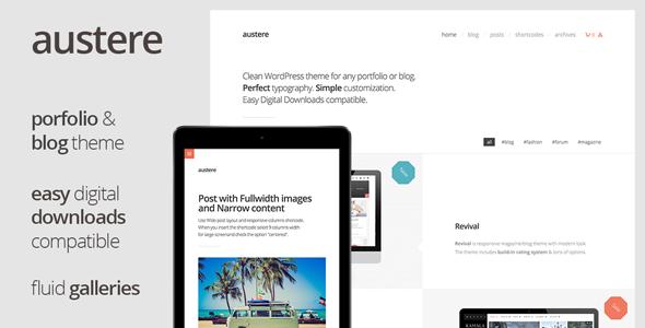 Austere - Digital Products Shop & Blog - Portfolio Creative