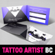 Tattoo Artist Folded Business Card Template - GraphicRiver Item for Sale