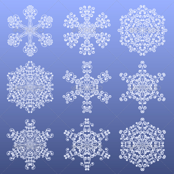 Set of a snowflakes - Christmas Seasons/Holidays