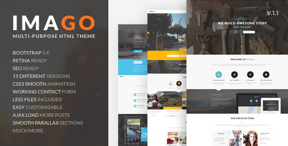 Imago - Multipurpose HTML5 Template - Business Corporate