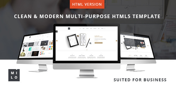 Milo - Clean & Modern Multi-Purpose HTML5 Template