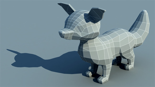 Fox - Low Poly - 3DOcean Item for Sale