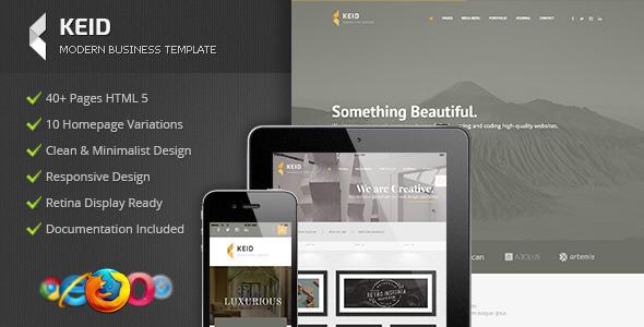 Keid - Modern Multipurpose HTML Template - Corporate Site Templates