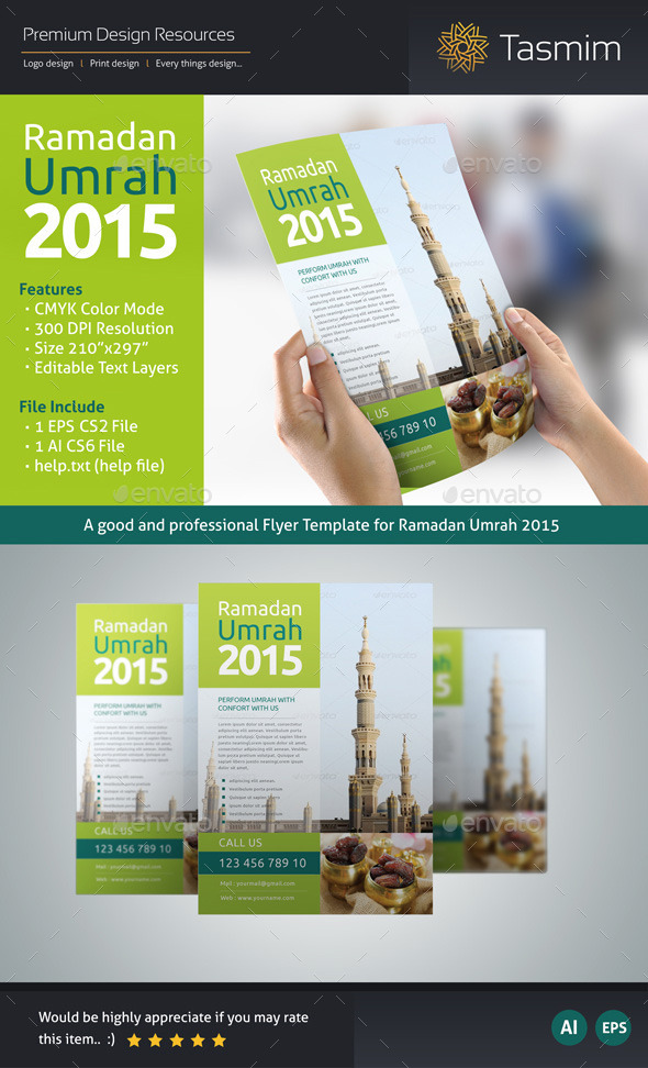 Ramadan Umrah 2015 Flyer Template - Holidays Events