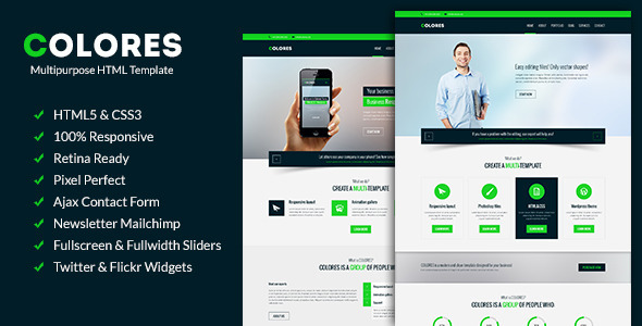 Colores - Multipurpose Corporate Template - Business Corporate