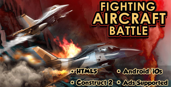 Fighting Aircraft Battle - HTML5 Mobile Game - CodeCanyon Item for Sale