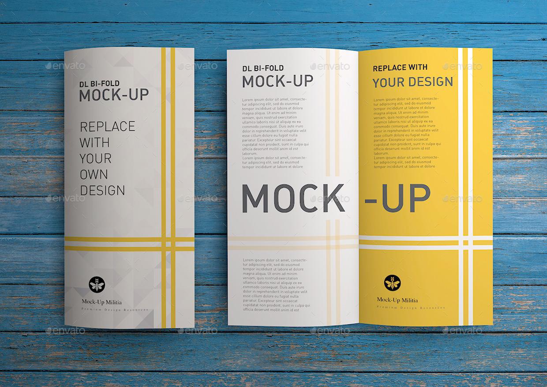 DL | Flyer | Brochure | Leaflet | Bi-Fold Mock-Up by Mock-Up-Militia