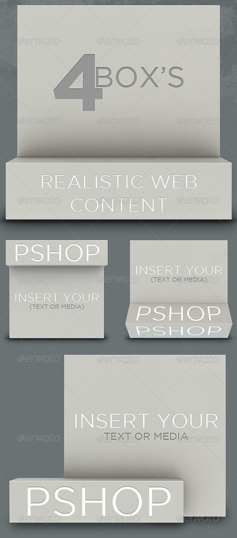 4 Realistic Box - Miscellaneous Web Elements