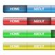 Web 2.0 Navigation Bars - GraphicRiver Item for Sale