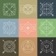 Set of Hipster Emblems and Badges - GraphicRiver Item for Sale