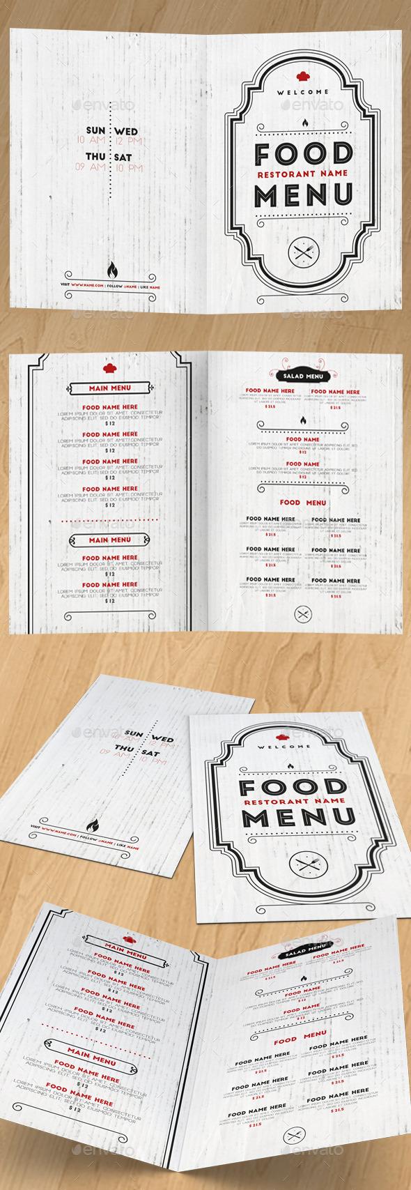 Elegant Food Menu II