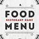 Elegant Food Menu II - GraphicRiver Item for Sale